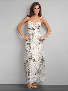 City Style Python Print Maxi Dress (NY and Co)
