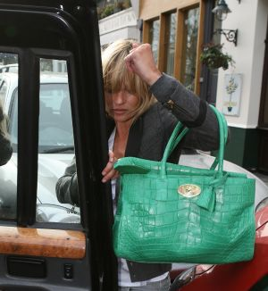 Mulberry's  green crocodile handbag